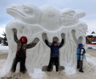 Sculpture de neige, Yukon Sourdough Rendez-vous