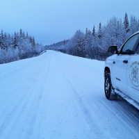La Dempster Highway en hiver