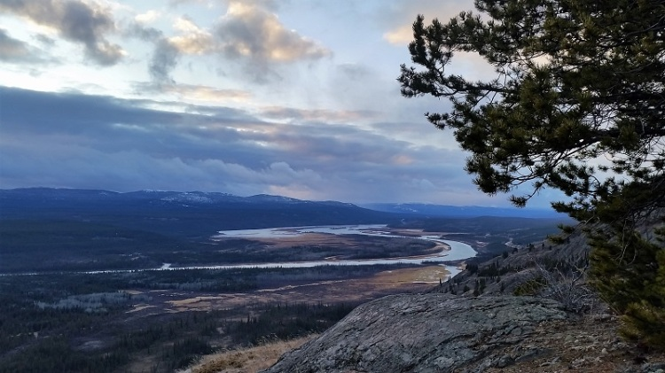 Vue depuis le Mont McClintock, Yukon, Canada