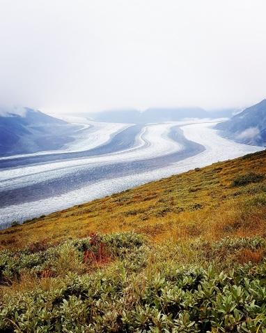 Le glacier Kaskawulsh dans toute sa splendeur. ©Kelly Tabuteau