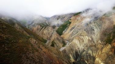 À l'assaut d'Observation Mountain. ©Kelly Tabuteau
