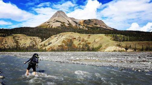 La traversée du ruisseau Bullion. ©Kelly Tabuteau