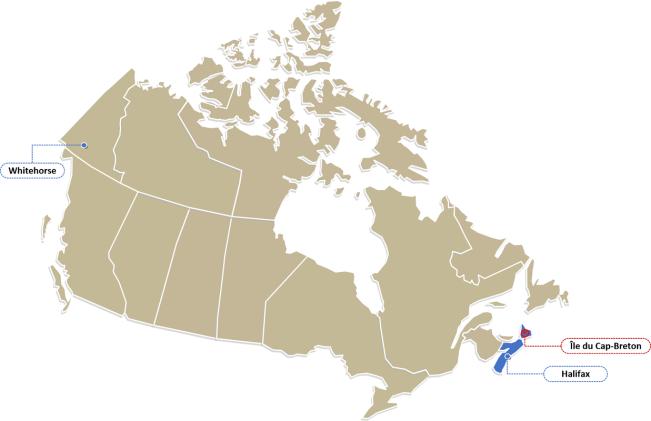 Localisation Nouvelle-Écosse